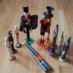 Other - Dracula & Witch Taper Holders & Halloween Friends